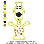 Applique Topsy Embroidery Design
