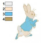 Beatrix Potter Peter Rabbit 01 Embroidery Design
