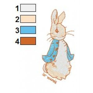 Beatrix Potter Peter Rabbit 03 Embroidery Design