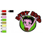 Betty Boop 01 Embroidery Design