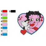 Betty Boop 06 Embroidery Design