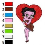 Betty Boop 13 Embroidery Design