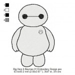 Big Hero 6 Baymax 01 Embroidery Design