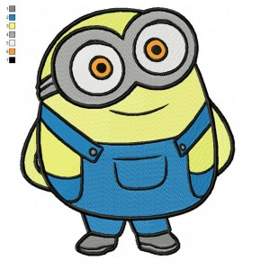 Bob Minion Embroidery Design