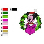 Christmas Mickey Mouse Embroidery Design