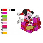 Christmas Mickey Mouse Gifts Embroidery Design