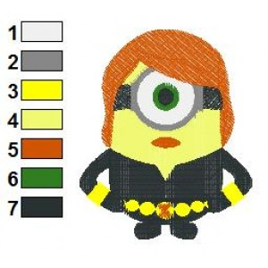 Despicable Me Black Widow Embroidery Design