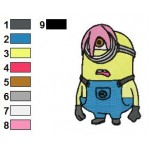 Despicable Me Carl 03 Embroidery Design