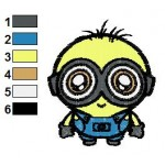 Despicable Me Chibi Minion Embroidery Design
