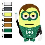 Despicable Me Green Lantern Embroidery Design
