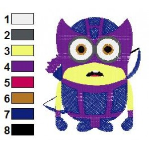 Despicable Me Hawkeye Embroidery Design