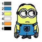 Despicable Me Minions 01 Embroidery Design