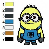 Despicable Me Minions 02 Embroidery Design