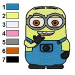 Despicable Me Minions 04 Embroidery Design