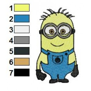 Despicable Me Minions 05 Embroidery Design