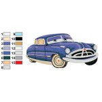 Doc Hudson Disney Cars Embroidery Design