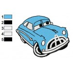 Doc Pixar Disney Cars Embroidery Design