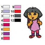 Dora Back to School Embroidery Design 02