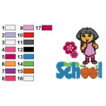 Dora Back to School Poster Embroidery Design
