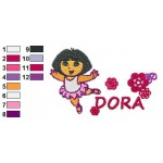 Dora Dancing Poster Embroidery Design