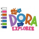 Dora Logo Embroidery Design