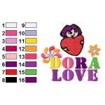 Dora Love Poster Embroidery Design