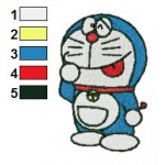 Doraemon 02 Embroidery Design