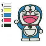 Doraemon 14 Embroidery Design