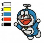 Doraemon 15 Embroidery Design