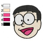 Doraemon Face Nobi Nobita 19 Embroidery Design