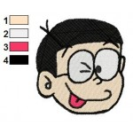 Doraemon Face Nobi Nobita 20 Embroidery Design