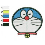 Face Doraemon 06 Embroidery Design