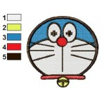 Face Doraemon 07 Embroidery Design