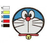 Face Doraemon 08 Embroidery Design