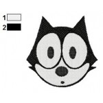 Face Felix the Cat Embroidery Design