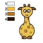 Free Animal Giraffe 01 Embroidery Design