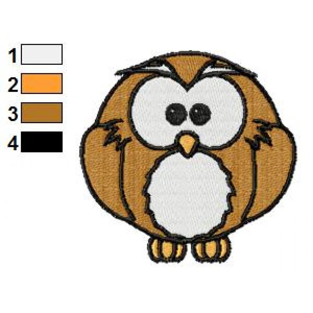 Free Animal Owl 01 Embroidery Design on