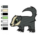 Free Animal for kids Badger Embroidery Design