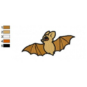 Free Animal for kids Bat Embroidery Design