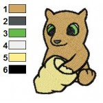 Free Animal for kids Bear 02 Embroidery Design