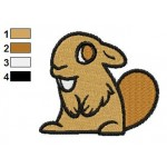 Free Animal for kids Beaver Embroidery Design