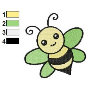 Free Animal for kids Bee Embroidery Design