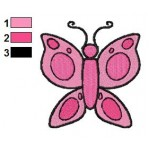 Free Animal for kids Butterfly Embroidery Design