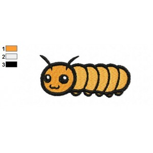Free Animal for kids Caterpillar Embroidery Design