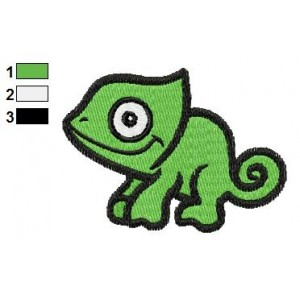 Free Animal for kids Chameleon Embroidery Design