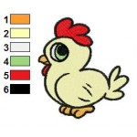 Free Animal for kids Chicken Embroidery Design