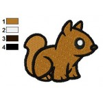 Free Animal for kids Chipmunk Embroidery Design
