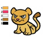 Free Animal for kids Cougar Embroidery Design