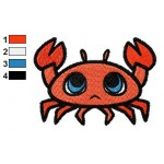 Free Animal for kids Crab Embroidery Design