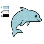Free Animal for kids Dolphin Embroidery Design